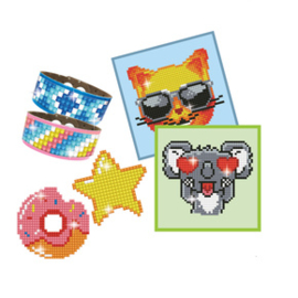 DIAMOND DOTZ DOTZIES BOY VARIETY KIT 6 PROJECTS - GREEN - NEEDLEART WORLD