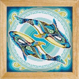 Diamond painting MANDALA Waterdier ORCAS