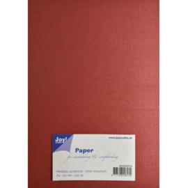 Metallic Cardstock 15 x 30 cm (pak van 20) rood