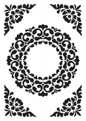 Embossing folder Nellie's Choice ornament frame