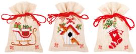 Kruiden of snoepzakjes kerstfiguren (set van 3) PN-0172213
