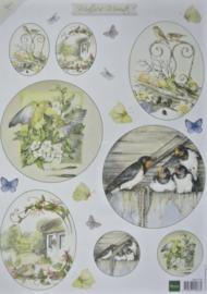 Knipvel MATTIE's Mooiste vogels - Marianne Design