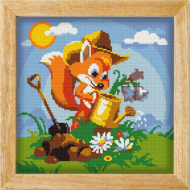 Diamond painting MANDALA FUNNY ANIMALS FLOWER FOX