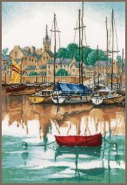 Classic - Jachthaven bij Zonsopgang (linnen)