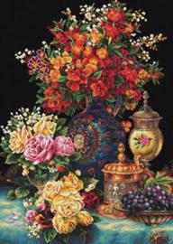VOORBEDRUKT BORDUURPAKKET CLASSIC FLOWERS - NEEDLEART WORLD