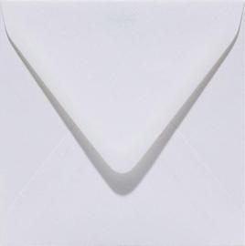 Papicolor Envelop vierkant 14cm hagelwit 105gr pak/6 st