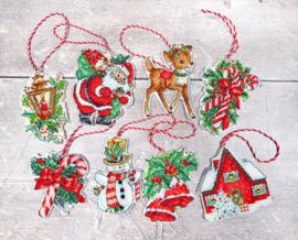 Borduurpakket LETI 966 Christmas Toys Kit nr. 1