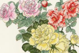 BORDUURPAKKET ROSE BLOOMS - BOTHY THREADS