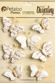 Petaloo • Wild butterflies white - Papieren vlinders  (7 stuks)