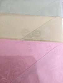 Linnen kaarten met bijpassende envelop (6)