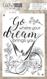 COOSA Crafts clearstamps A6 - GO WHERE YOUR DREAMS BRING YOU