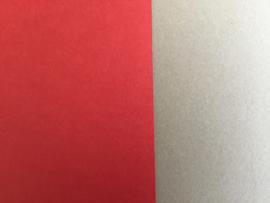 DUO Scrap karton 30 x 30 cm rood/bruin