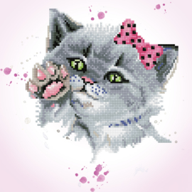 DIAMOND DOTZ EYE SPY KITTY - NEEDLEART WORLD