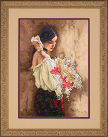 WOMAN WITH BOUQUET  - Dimensions (GOLD collection)