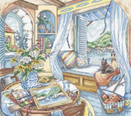 Borduurpakket LETI 8006 Window Seat (by Kim Jacobs)