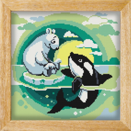 Diamond painting MANDALA FUNNY ANIMALS ARTIC FRIENDS