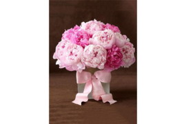 PEONIES WITH RIBBON WD003 27 x 38 cm