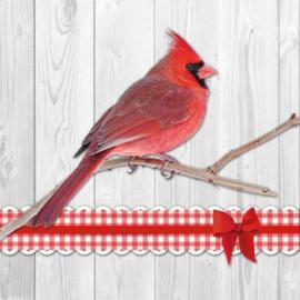 Ambiënte servetten 5st - Cardinal Bird 33x33cm