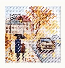 Autumn In The City. Wet Boulevard S0-218 - ALISA