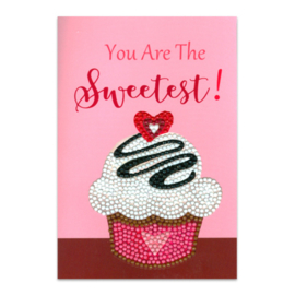 DIAMOND PAINTING KAART - YOU ARE THE SWEETEST - CRAFT ARTIST