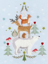 BORDUURPAKKET CHRISTMAS - SNOWY STACK - BOTHY THREADS