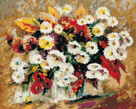 PAINT BY NUMBER FLOWERS 50 x 40 cm