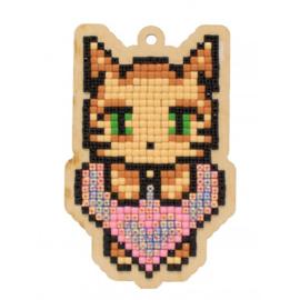 Setje met houten figuurtje DP CAT'S LOVE WWP334