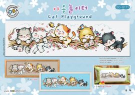 BORDUURPATROON CAT PLAYGROUND - SODA STITCH