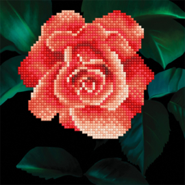 DIAMOND ART ROSE - LEISURE ARTS