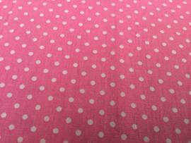 Rose met witte dots 50 x 55 cm 100% katoen