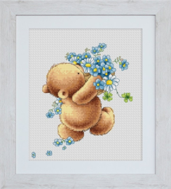 BEAR WITH FORGET-ME-NOT FLOWERS - LUCA-S