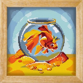 Diamond painting MANDALA FUNNY ANIMALS KING OF THE BOWL