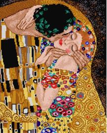 Voorbedrukt stramien after Gustav Klimt - The Kiss - ORCHIDEA 40 x 50