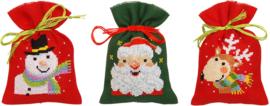 Kruiden of snoepzakjes kerstfiguren (set van 3) PN-0158346
