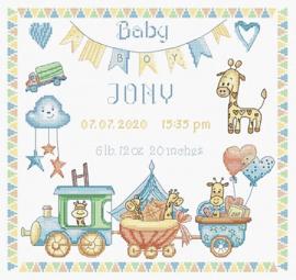Borduurpakket LETI 936 Baby boy Record