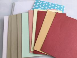 Assortimentset (10) kaart met envelop