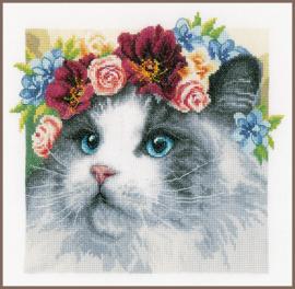 Animals - Ragdoll met bloemenkrans - (AIDA) Lanarte