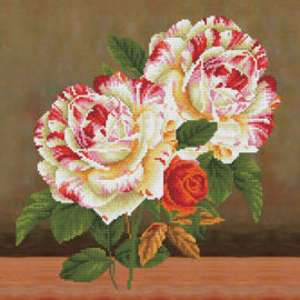 DIAMOND DOTZ KUSSEN CAMELLIA & ROSE BOUQUET - NEEDLEART WORLD