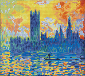 DIAMOND DOTZ LONDON PARLIAMENT IN WINTER (APRÈS MONET) - NEEDLEART WORLD