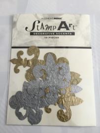Set van tien accenten goud/silver