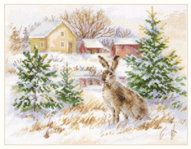 WINTER DAY. BROWN HARE S1-31