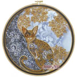KRALEN BORDUURPAKKET MOON CAT - ABRIS ART