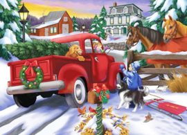 Diamond Painting  CHRISTMAS TRUCK 40 x 50 cm