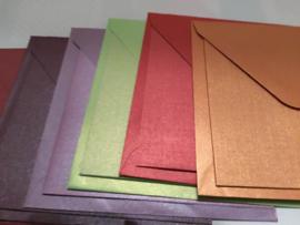 Metallic kaarten met bijpassende envelop (6)