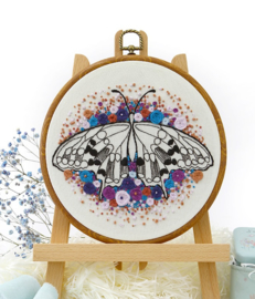 Butterfly (3) - Embroidery (Blauwe Vlinder)