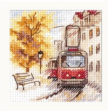 Autumn In The City. The Tram S0-217 - ALISA