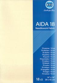 BORDUURSTOF AIDA 18 COUNT - ECRU - RTO