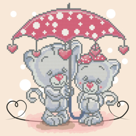 DIAMOND DOTZ ITS RAINING LOVE - NEEDLEART WORLD - OP CANVAS