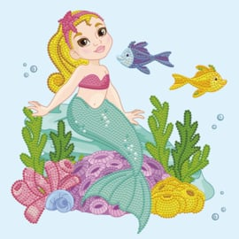 DIAMOND DOTZ LITTLE MERMAID - NEEDLEART WORLD - OP CANVAS