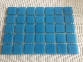 Mozaïeksteentjes 2 x 2cm (35 stuks) korenblauw